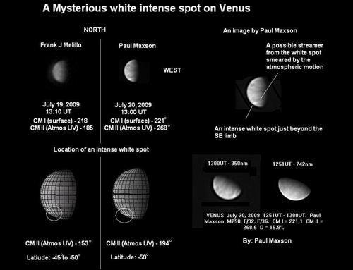金星表面出现神秘明亮斑点 具体原因不明(图)