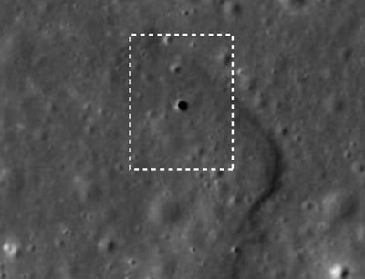 """月球表面发现神秘""""天窗""""下方暗藏地下通道"""