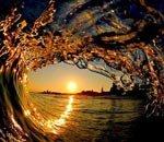 巨浪内的唯美风景
