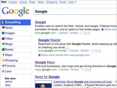 谷歌测试新用户界面 主页两按钮改为彩色(图)