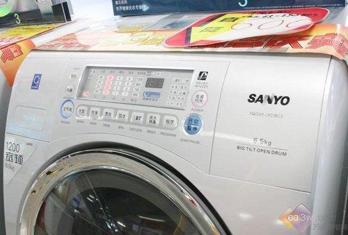 三洋xqg65-l903bcs操作面板实拍;; 降600 三洋新款变频斜滚筒洗衣机