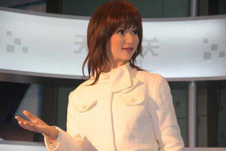 视频:日本电眼美女机器人木户小姐亮相广州