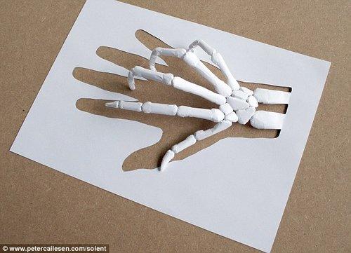 丹麦纸艺大师用普通复印纸创作出惊人作品