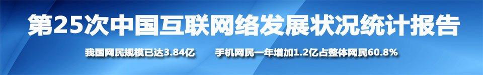 第25次中国互联网络发展状况统计报告
