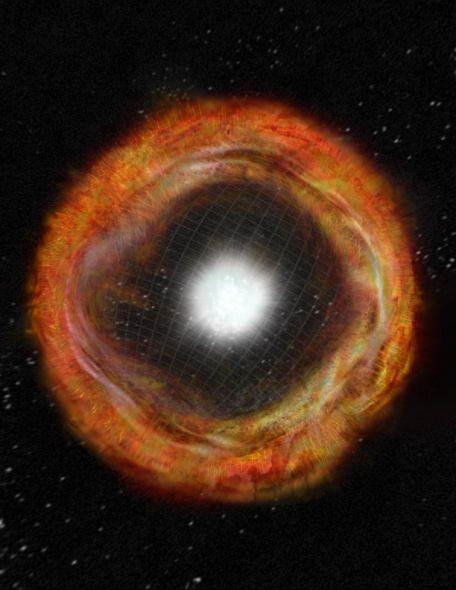 美国射电望远镜首次发现奇特超新星爆炸(图)