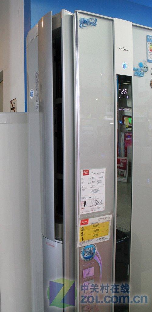 美的变频柜机空调12588元 外形性能优秀