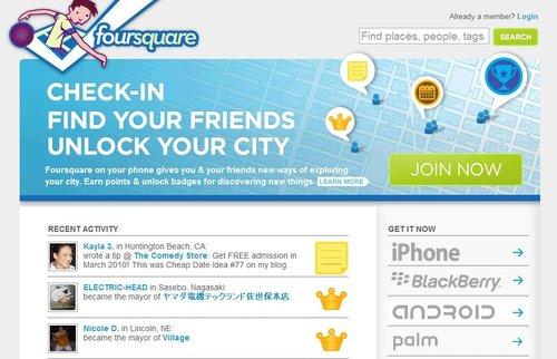 地理位置服务Foursquare单日消息量已近30万