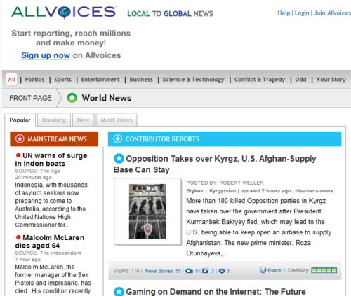 公众新闻网AllVoices将向30国扩张:包括中国