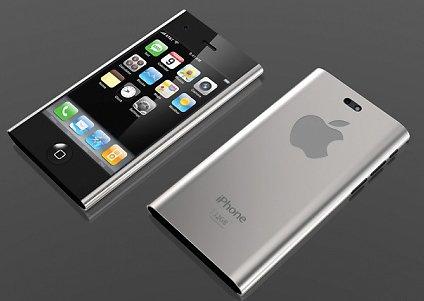 业界猜测的下一代iPhone手机,渲染图片(腾讯科技配图)