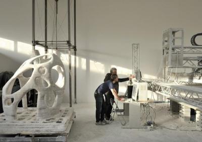 科学家研制三维打印机 未来制造月球房屋(图)