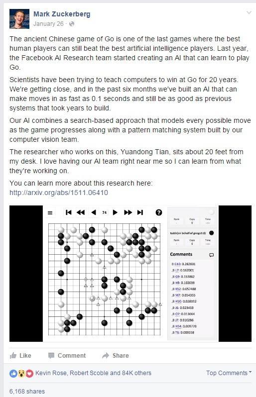 专访Facebook围棋项目负责人:和谷歌仍有差距