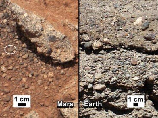 好奇号发现火星古河流证据 齐腰深度或有生物