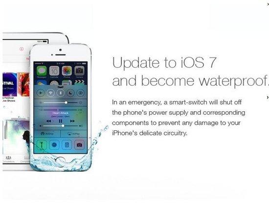 """""""山寨""""苹果广告称iPhone升级可防水 骗惨用户"""