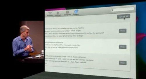 苹果展示新Mac OS 内置Mac App Store