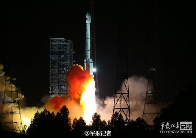 """中国成功发射""""老挝一号""""卫星"""