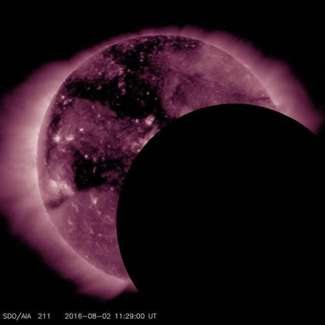 美国宇航局太阳动力学天文台观测日食遇故障
