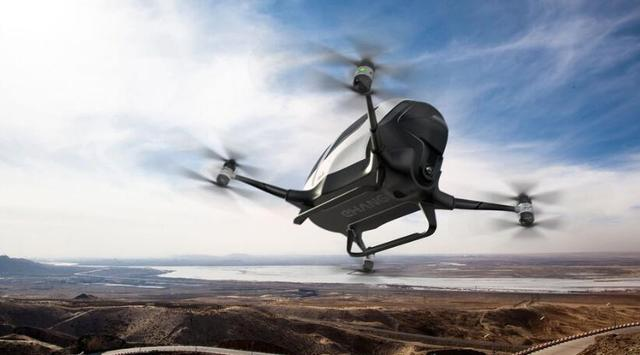 全球首款载客无人机今夏有望亮相迪拜 由中国亿航研制