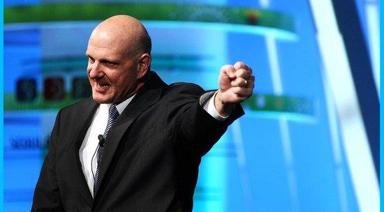 鲍尔默八个截面:微软最老雇员 不计个人形象