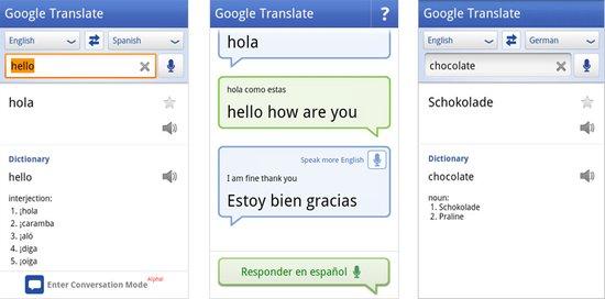 谷歌翻译Android版升级 新增12种语言