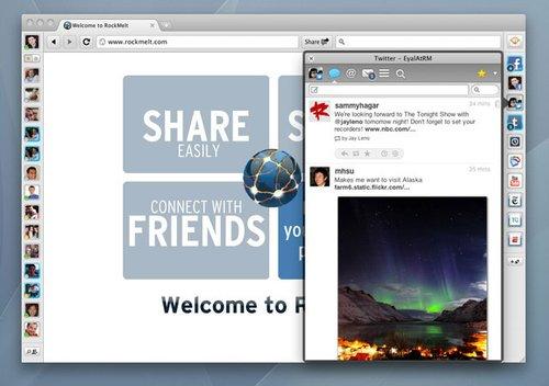 社交网络浏览器RockMelt发布Beta 2版