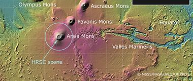 """火星火山5000万年前开启""""静音模式"""""""