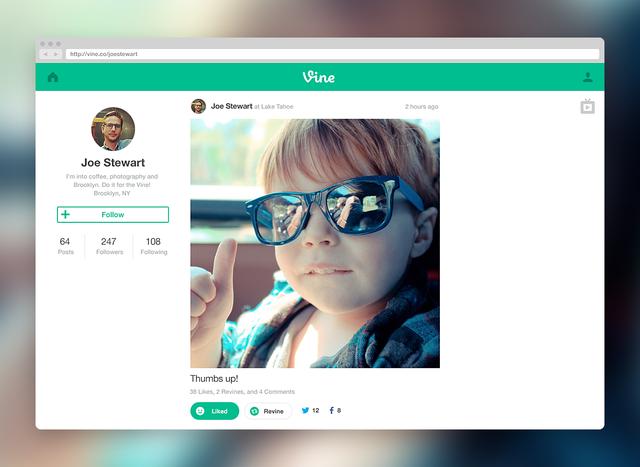 Twitter推出网页版短视频应用Vine
