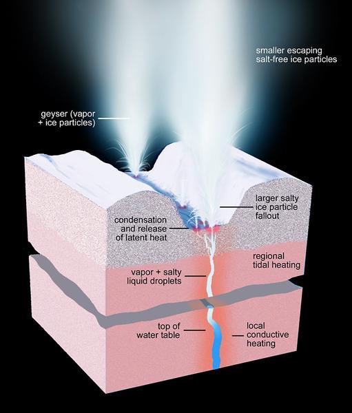 美宇航局发现土卫二极区大量间歇喷泉