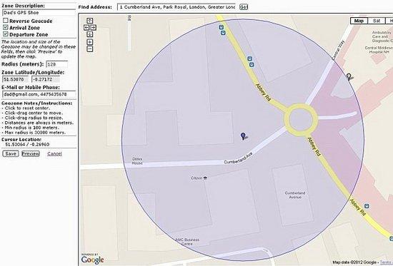 美GPS鞋内置定位系统 可监控阿兹海默症患者