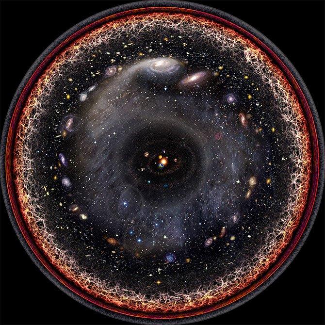 这位艺术家把整个宇宙画入了一幅图中