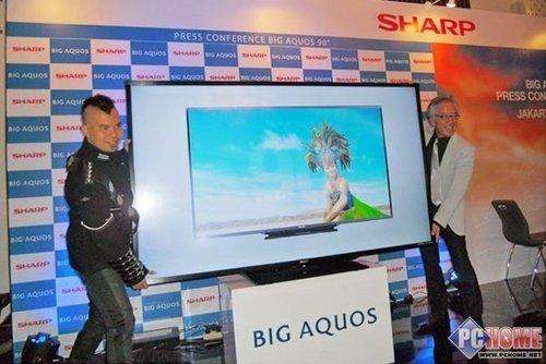 夏普90英寸液晶电视在印尼市场上市