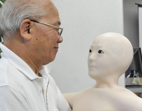 """日本研制出""""丑陋""""机器人 仿似灵魂附体(图)"""