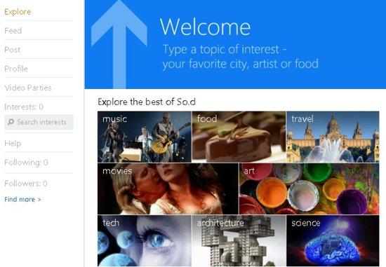 微软推出学生社交服务So.cl 可用MSN帐号登录