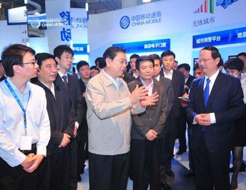张德江副总理参观通信展 赞移动做TD功不可没