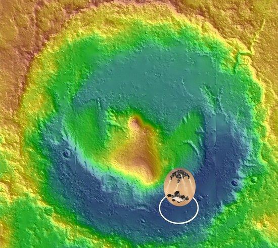"""""""好奇""""号选择盖尔环形山着陆的原因"""