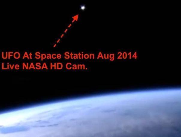 UFO秘密到访空间站? 摄像机记录其身影