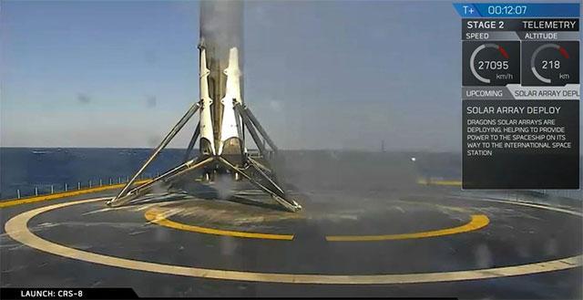 SpaceX做到了!今凌晨成功实现世界首次海上回收火箭