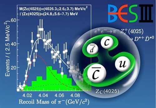 我国科学家发现至少由四夸克组成的新粒子