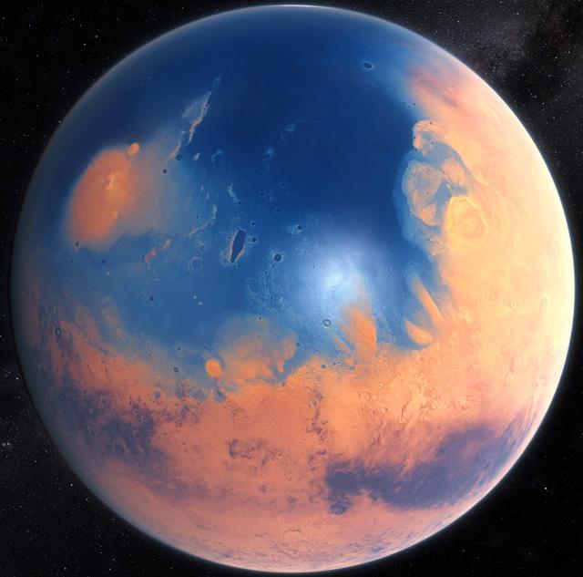 远古火星海洋可能源于持续火山活动