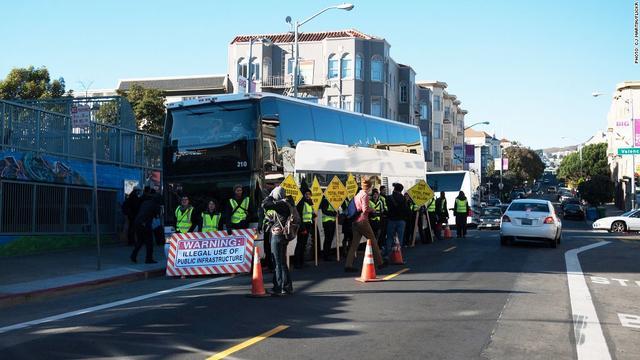 被旧金山市民抗议的谷歌班车 终于可以继续开了