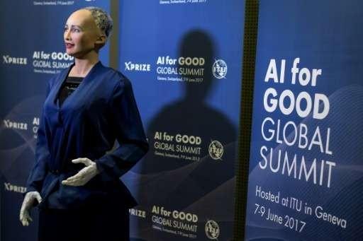 这个机器人信誓旦旦地说:人工智能对世界有益,能帮助人类
