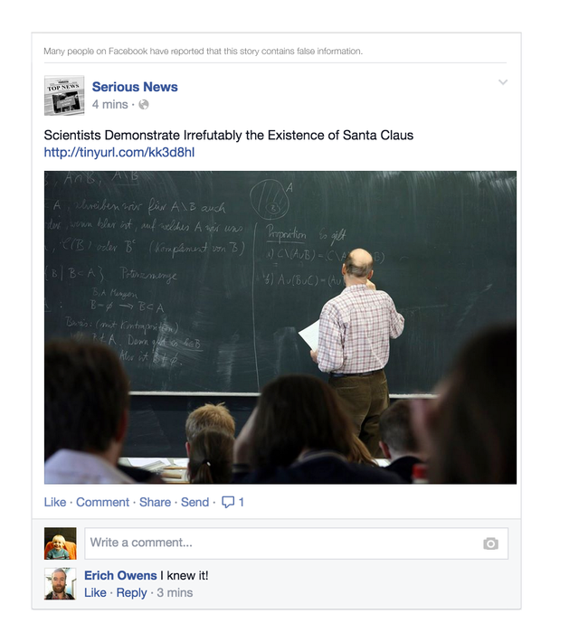 Facebook称将打击假新闻