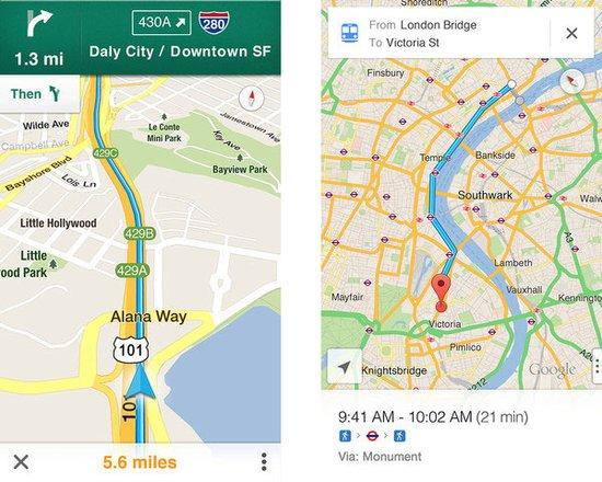 并允许谷歌地图进行搜索,展示地图和街景图像,或进行导航.