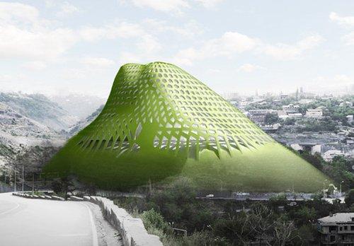 亚美尼亚建造绿色生态山 酷似科幻世界城堡