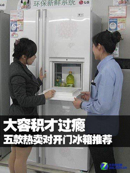 大容积才过瘾 五款热卖对开门冰箱推荐