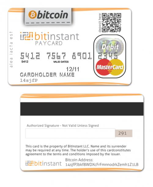 传BitInstant将发行比特币信用卡