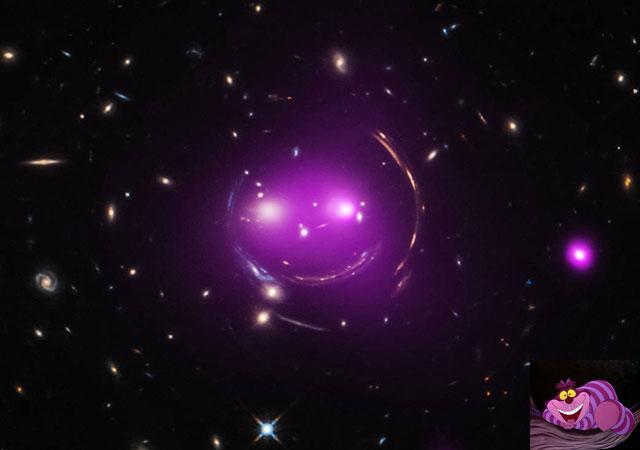 """NASA发现宇宙中微笑的""""柴郡猫"""""""