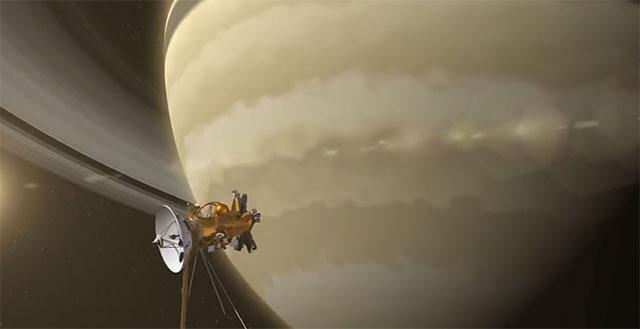"""土星风暴:14亿公里外的太空""""拉花"""""""