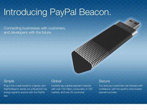 Paypal推出不用手的支付工具Beacon