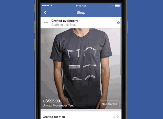 Facebook与电商平台Shopify合作推出购物功能