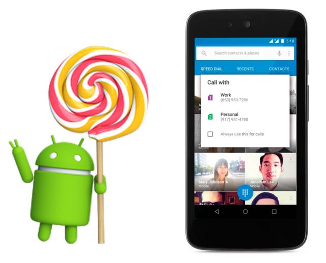 谷歌正式推送安卓5.1 支持多SIM卡及防盗锁定